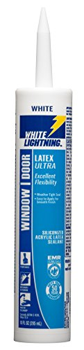 (White Lightning W31000010 Latex Ultra Window and Door Sealant, White, 10 OZ)