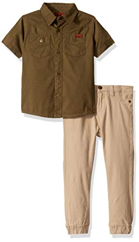 7 For All Mankind Boys' Toddler 2 Piece Set, Camo