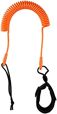 JOIBA Sup Leash Coiled 10' Leash Sup Leg Rope Strap Stand Up Paddle Board Coiled Spring Leg Foot Rope Surf
