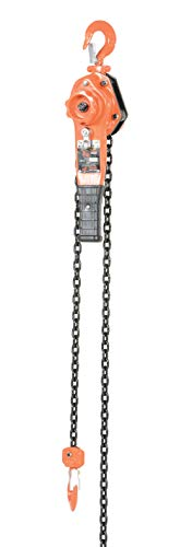 Vestil PLH Lever Hoist with Disc Brake, Hook Mount, 3/4 Ton Capacity, 10' Lift, 11' Headroom, 11' Lever Length
