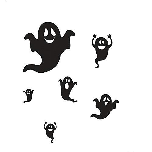 (Happy Halloween Bats and Cats Wall Decals Window Stickers Halloween Decorations for Kids Rooms Nursery Halloween)