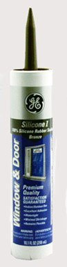 GE GE412A Silicone I Window and Door Caulk, 10.1 oz Cartridge, Bronze (Case of 12) by GE by GE