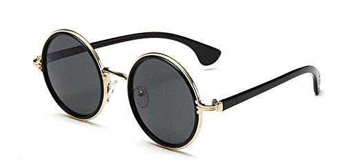 en lunettes vintage polarisées inspirées soleil Feuille Lennon Grise retro de style du B métallique rond cercle 4Rr4pqx