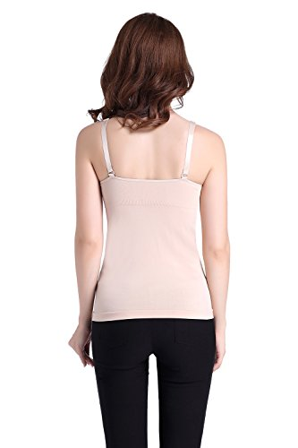 Top Senza Elastico Camicetta Shirt Moda Colore Maniche Halter Maglietta Pink Popolare Comoda Canotta T Donna Pregnancy Puro LIOMENLA Allattamento Casual 7Yqx4pw7E