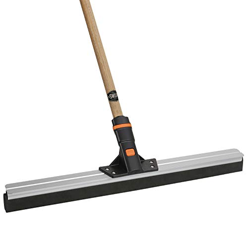 24'' SWOPT Floor Squeegee – 60'' Comfort Grip Wooden Handle – EVA Foam Comfort Grip for Control & Efficiency – Handle Interchangeable with Other SWOPT Cleaning Heads – Durable & Flexible – Safe for Smooth & Textured Surfaces by Swopt (Image #4)