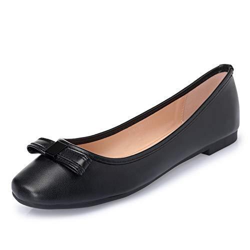 Casual Ballet Planos Negro 36 Trabajo señoras Plano Zapatos Embarazada de de EU de Mujer Zapatos Solo FLYRCX Moda de 37 Zapatos Zapatos Cómodo Zapatos UE Arco SnxqwIv81f
