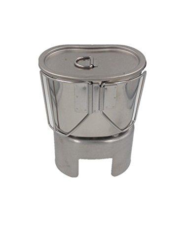 Jolmo Lander Kocher f/ür US Feldflasche,US Armee Milit/är Kochgeschirr,US Feldflaschenbecher mit Deckel und Canteen Cup Stand aus edelstahl