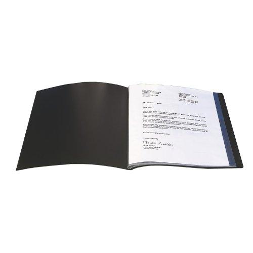 Q Connect A4 40-Pocket Presentation Display Book - Black KF01267