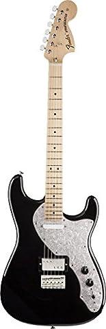 Fender Pawn Shop '70s Stratocaster Deluxe, Maple Fingerboard, Black - Fender Chrome Deluxe Guitar
