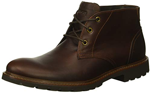 Rockport Men's Sharp & Ready Chukka Boot, saddle brown, 10.5 W US