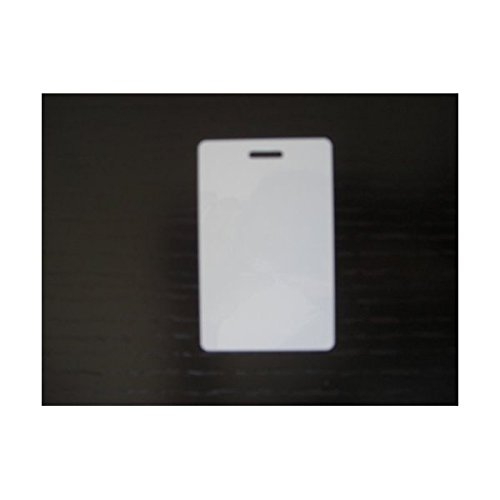 100 Blank White PVC Plastic Photo ID Slot Punch Card 30Mil (Blank Photo)