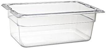 "Carlisle 1028107 TopNotch Quarter-Size Food Pan, 2.8 qt. Capacity, 10.25 x 6.38 x 4.00"", Clear (Case of 6)"