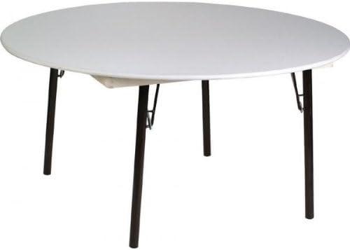 Mesa Plegable REDONDA Melamina 1,70 diámetro: Amazon.es: Hogar