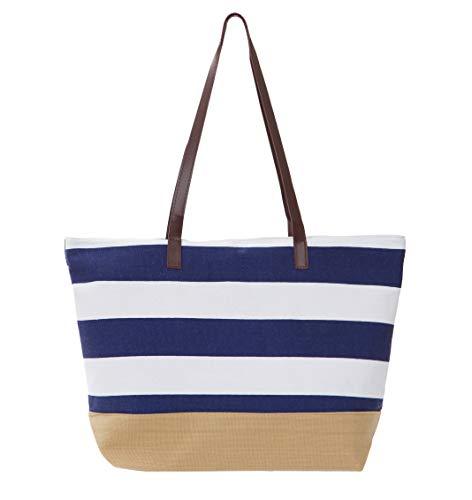 Leisureland Canvas Tote Bag, Travel Tote Bag, Water Resistant Beach Bag (L20