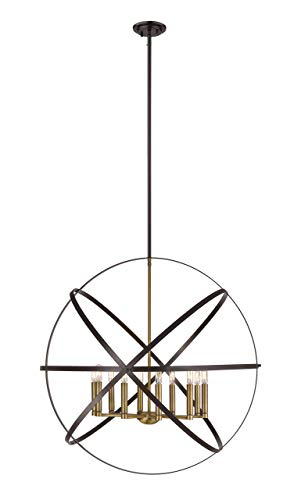 Hammered Brass Pendant Light in US - 4