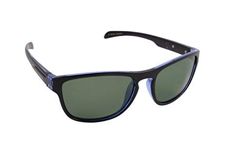 Islander Eyes Zanzibar Polarized, Blue & Black Frame with Grey Lens, Blue Black, Solid Grey (Solid Lens Grey)