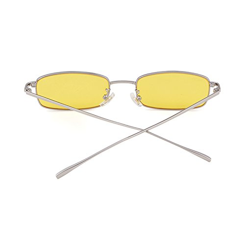 Vintage Steampunk Sunglasses Fashion Metal Frame Clear Lens Shades for Women by ADEWU (Image #4)