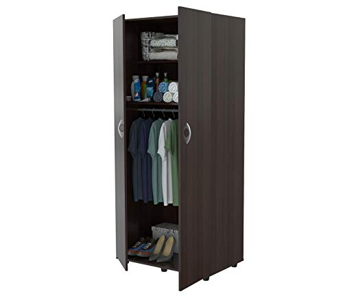 Inval America 2-Door Armoire with Clothing Storage ()