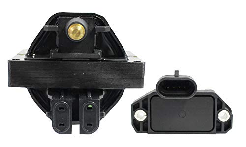 (Ignition Coil and Module System Kit for 1994 1995 Buick Commercial Chassis Roadmaster Cadillac Fleetwood Chevy Camaro Caprice Corvette Impala Pontiac Firebird 4.3L 5.7L V8)