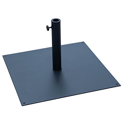 Sundale Outdoor 38.5 lbs Heavy Duty Square Steel Plate Stand Patio Umbrella Base, Black