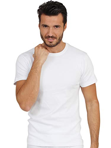 (EGI Luxury Wool Silk Men's Short Sleeve T-Shirt. Proudly Made in Italy. (7 (XX-Large), Bianco) )