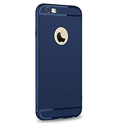 competitive price d8e76 1be78 Enflamo Soft Silicone Slim Back Cover Case for iPhone 6 & 6S (Blue)