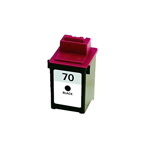 Office Mountain Remanufactured Black Ink Cartridge Lexmark 12A1970 ( #70 ) for Lexmark All-In-One X125, X4212, X4250 | Rated for 600 pages - 1 ()