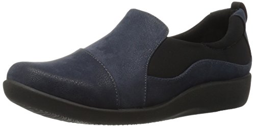 Clarks+Women%27s+CloudSteppers+Sillian+Paz+Slip-On+Loafer%2C+Navy+Synthetic+Nubuck%2C+8+W+US