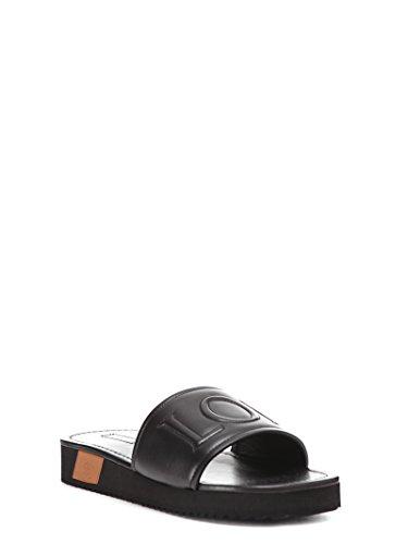 Loewe Men's 453185041329 Black Leather Sandals 8E8YDLqAL