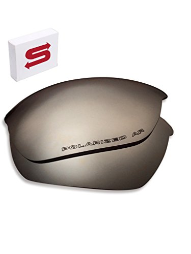 Dark SILVER Mirror Oakley Half Jacket 2.0 Lenses POLARIZED by Lens Swap QUALITY & PERFECT FIT by Lens Swap