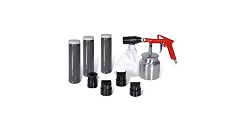 Air Sand Blasting Kit Power Tools 3 Bottles & 4 Nozzles K&A Company by K&A Company