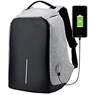2128fe8c1f4a Dharmsut Anti Theft Backpack Waterproof Business Laptop Bag with USB  Charging Port for 14 Inch Laptop