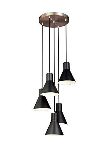 Sea Gull Lighting 5141305-848 Five Light Cluster Pendant - 28 Sea Gull Lighting