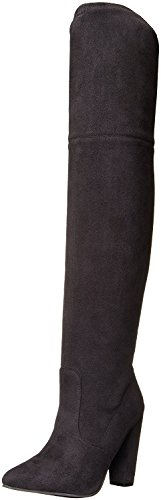 Steve Madden Womens Rocking Pointed Toe Fabric Fashion Boots, Black, Size (Steve Madden Knee High Boots)