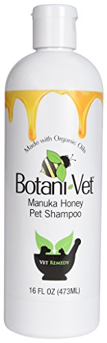 Certified Organic Manuka Honey Pet Shampoo, 100% Natural Ingredients by BotaniVet