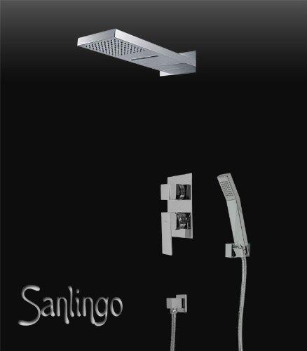1 opinioni per SANLINGO COMPLETARE SET DOCCIA INOX CASCATA PIOGGIA INCASSO + DEVIATORE CROMO