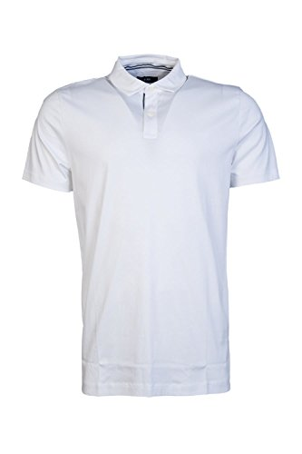 Hugo Boss Mens Short Sleeve Polo Shirt Press 21 50364789 Size L White (Boss Press)