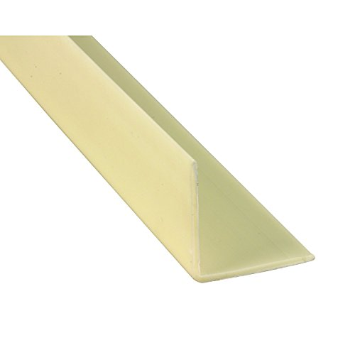 Prime-Line MP10345 Corner Shield, 1 Inch x 1 Inch x 48 Inches, Vinyl Construction, Almond, 5 (1 Hole Corner)