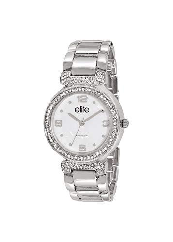 Reloj Elite Mujer Digital Plata en Acero Inoxidable | Reloj Color Blanco | e53684 - 201: Amazon.es: Relojes