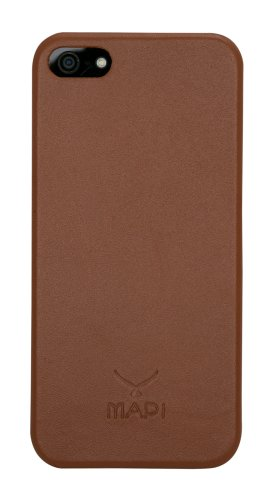 MAPi Cases Smyrna For iPhone 5/5s - Minimalist Thin Style, Leather Inlay For Engineered Protection, Tan