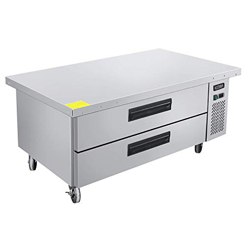Commercial 2 Drawer Refrigerated Chef Base - KITMA 52 Inches Stainless Steel Chef Base Work Table Refrigerator - Kitchen Equipment Stand, 33 °F - ()