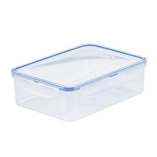 LOCK & LOCK HPL824 Easy Essentials Food Storage lids/Airtight containers, BPA Free, Rectangle-54 oz-for Veggies, Clear