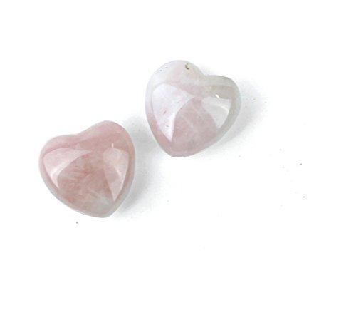 Mini Rose Quartz Carved Heart Stone | 1 piece (Rose Quartz Puffed Heart)
