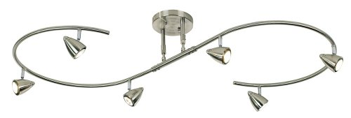 Pro Track Salazar 300W Brushed Steel S-Wave Light Fixture (Kitchen Track Lighting compare prices)