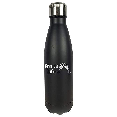 Funny Champagne - Brunch Life Flutes Toast - Sparkling Wine Grapes Humor - Vacuum Sealed Water Bottle