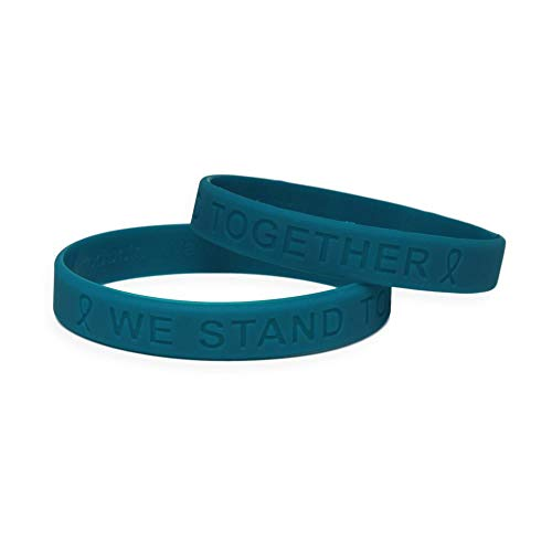 - Ovarian Cancer Awareness Silicone Bracelet 25 Pack