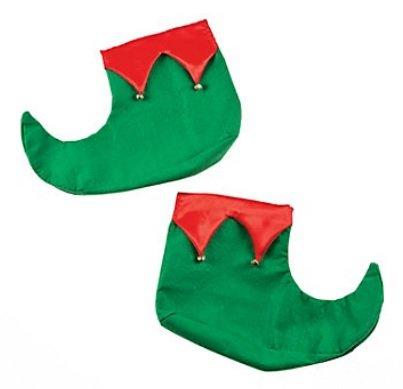 Green Elf Shoes (Adult Felt Holiday Christmas Elf Shoes)