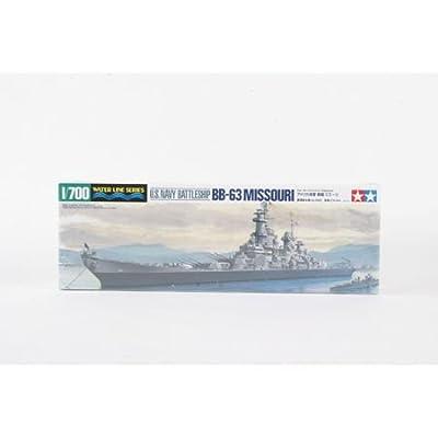 Tamiya America, Inc 1/700 U.S.Navy Battleship Missouri, TAM31613: Toys & Games