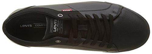 Zapatos Cordones Hombre Negro Levi's brillant De Black Derby Para Woods Hwt5qS4