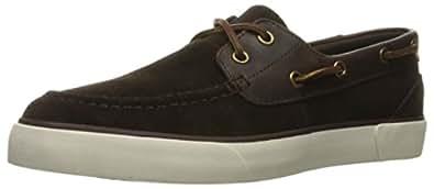 Polo Ralph Lauren Men's Rylander Sport Suede Fashion Sneaker, Dark Brown/Dark  Brown,